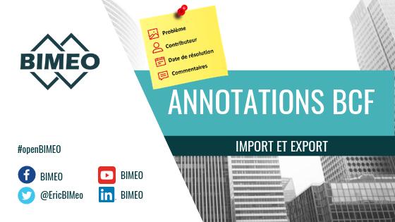 Import et export de BCF sur BIMEO
