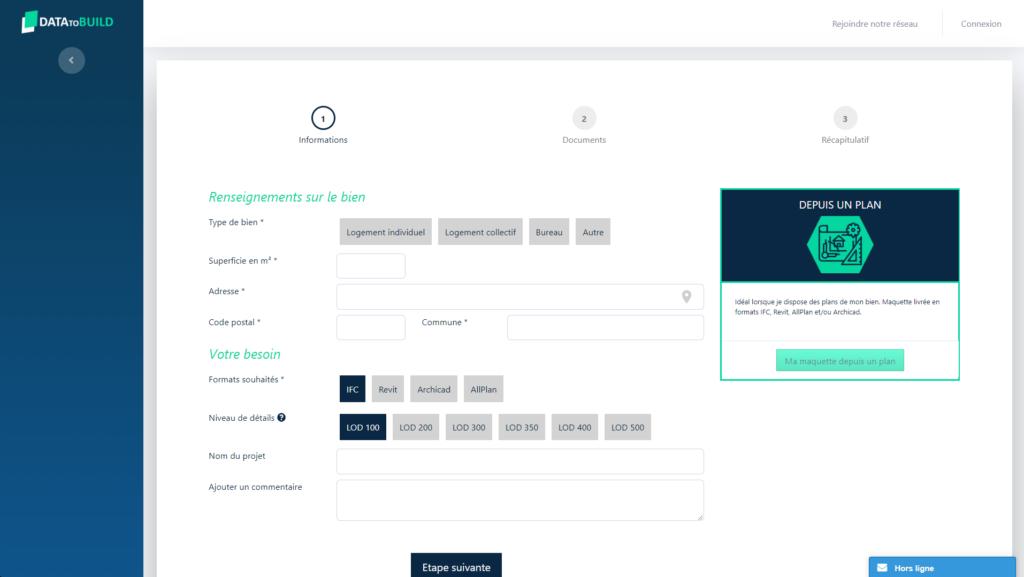 Capture d'écran DataToBuild Plan