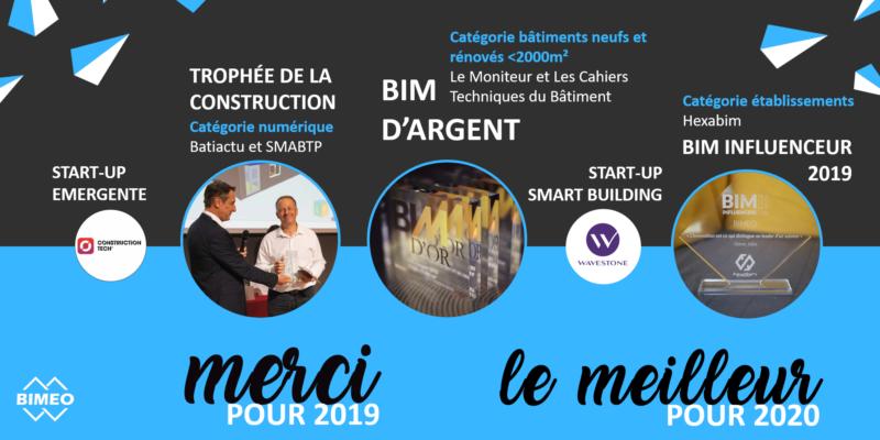 Bimeo récompensé BIM influenceur 2019 en janvier 2020